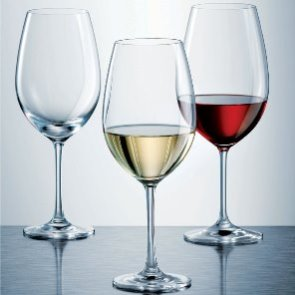Schott Zwiesel IVENTO Wine Glasses Filled to The Perfect Pour